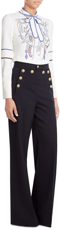 RED ValentinoR.E.D. Valentino Wide Leg Sailor-Style Pants