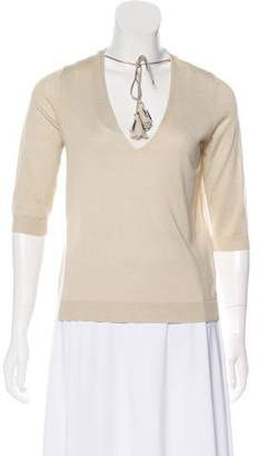 Schumacher Dorothee Silk-Cashmere V-Neck Knit Sweater