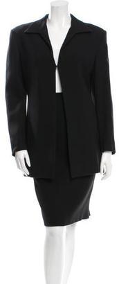 Burberry Black Skirt Suit $130 thestylecure.com