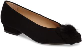 Sesto Meucci Genuine Rabbit Fur Pom Flat
