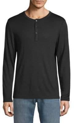 Casual Long-Sleeve Henley