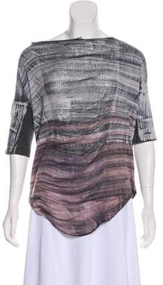 Raquel Allegra Tie Dye Distressed Top