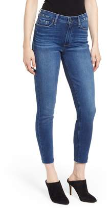 Paige Hoxton High Waist Raw Hem Ankle Skinny Jeans