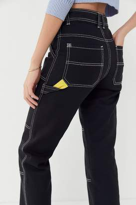BDG Maura Contrast Stitch Cropped Utility Jean