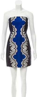 Tibi Silk Strapless Dress