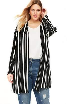Evans Variegated Stripe Kimono Jacket