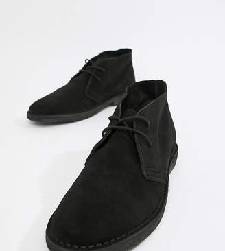 111d3e82a6e Black Suede Lace Up Mens Desert Boots - ShopStyle UK