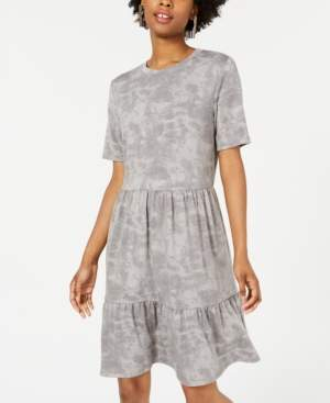 One Clothing Juniors' Printed Tiered T-Shirt Dress