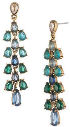 Carolee Pacific Gala Crystal Ombré Stone Cascade Earrings