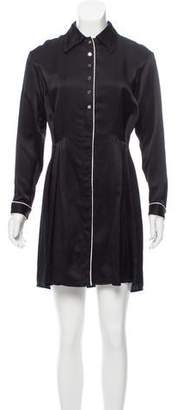 Tanya Taylor Long Sleeve Mini Dress
