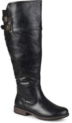 Co Brinley Women's Extra Wide Calf Double-Buckle Knee-High Riding Boot