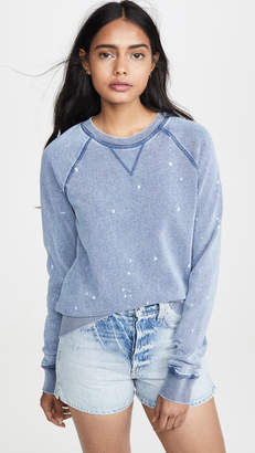 Z Supply The Knit Denim Bleach Pullover