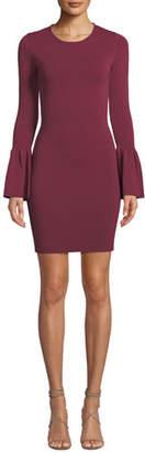 Bardot Arabella Bell-Sleeve Body-Con Short Dress