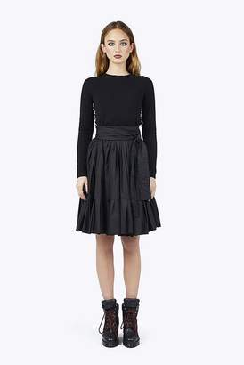 Marc Jacobs Cotton Belted Ruffle Skirt