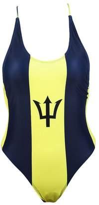 1f43f0ae049a4 VOARYISA Women's One Piece Caribbean Flag Rasta Monokini Thong Swimsuit  Swimwear Bathing Suit (Medium,