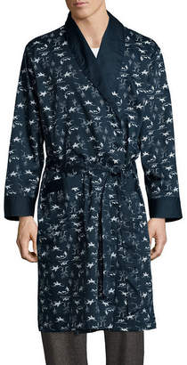 STAFFORD Stafford Men's Sateen Long Sleeve Robe