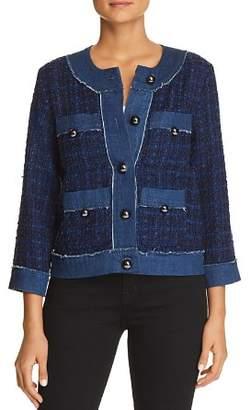 Kate Spade Denim-Trim Tweed Jacket