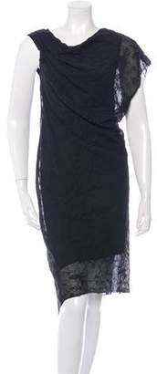 Helmut Lang Wool & Silk-Blend Textured Dress w/ Tags