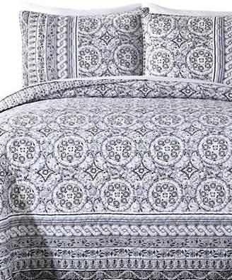 Jessica Simpson Mosaic Border 140 Thread-Count Three-Piece Quilt Set