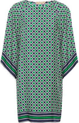 Michael Kors Collection - Printed Silk-twill Mini Dress - Green $1,350 thestylecure.com