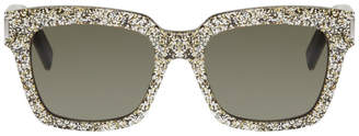 Saint Laurent Black and Silver Bold 1 Sunglasses