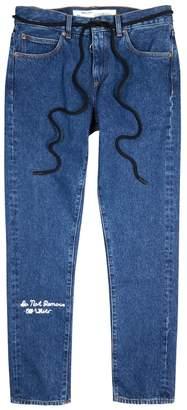 Off-White Off White Dark Blue Slim-leg Jeans