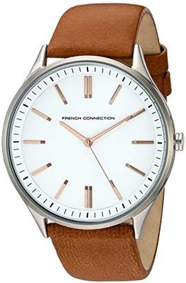 French Connection Men's 'Harris' Quartz Stainless Steel and Leather Watch