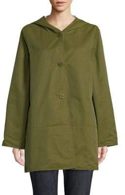 Eileen Fisher Reversible Hooded Jacket