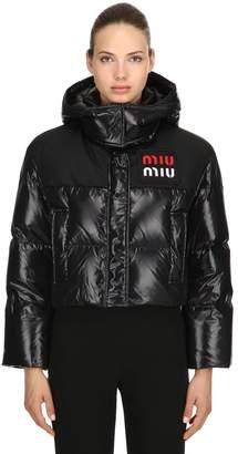 Miu Miu (ミュウミュウ) - MIU MIU ナイロン クロップドジャケット