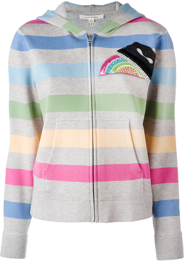 Marc Jacobs Marc Jacobs striped hooded cardigan