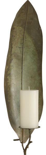 Crate & Barrel Frond Candle Sconce