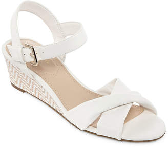 672c080ca51 Liz Claiborne Womens Sewell Wedge Sandals