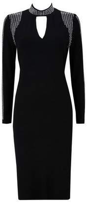 Wallis Black Embellished Midi Shift Dress