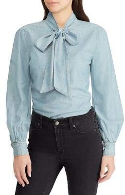 Lauren Ralph Lauren Necktie Chambray Shirt