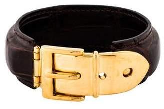 Gucci Alligator Belt Buckle Bracelet