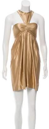 Matthew Williamson Silk & Wool-Blend Mini Dress