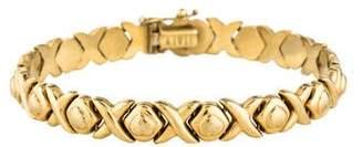 14K Hugs & Kisses Link Bracelet