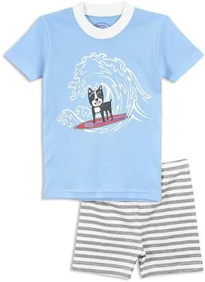 Sara's Prints Boys' Surfer Dog Pajama Shirt & Shorts Set - Little Kid