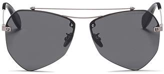 Alexander McQueen 'Piercing' metal angular sunglasses