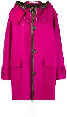 Marni oversized hooded coat