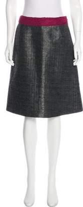 Miu Miu Metallic Knee-Length Skirt