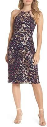 Trina Turk Karin Leopard Lace Halter Dress