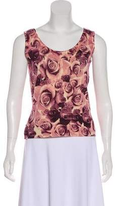 St. John Sport Floral Patterned Sleeveless Top