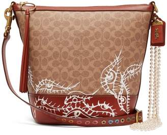 Coach Matty Bovan X Matty Bovan Duffle Eye Signature Bag - Womens - Brown Multi