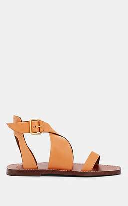 Chloé Women's Crisscross-Strap Leather Sandals - Yellow
