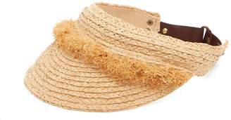 LOLA HATS Nail Brush raffia visor