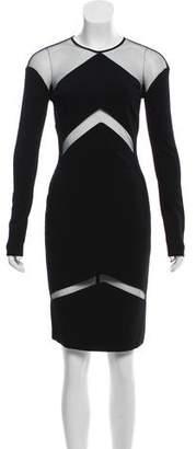 Vicedomini Long Sleeve Knee- Length Dress