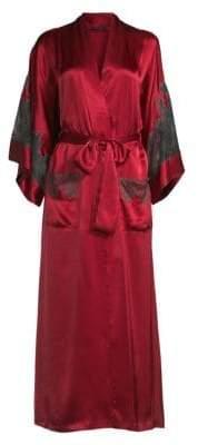 Natori Josie Long Lace Trim Robe