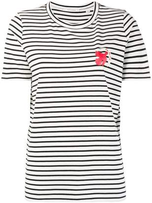 Parker Chinti & striped bird print T-shirt
