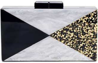 LIKE DREAMS Glitter & Faux Marble Box Clutch